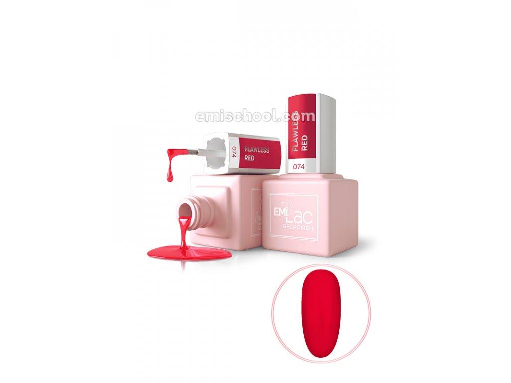 E.MiLac DV Flawless Red No074, 9 ml.
