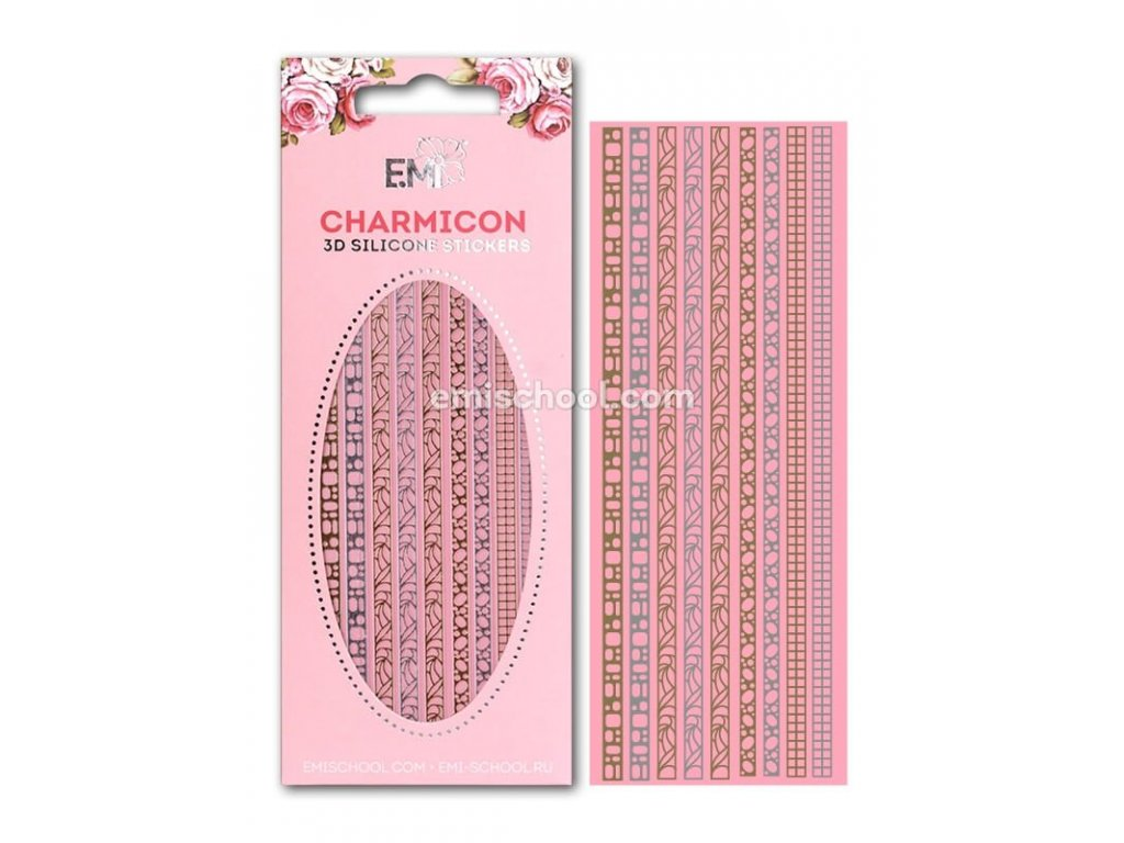 Charmicon 3D Silicone Stickers Jewelry #3 Gold/Silver