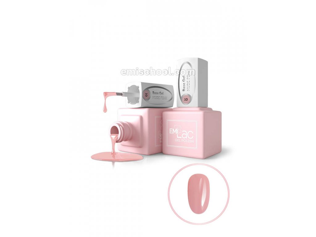 E.MiLac Base Gel Nude Pink #10, 9 ml.
