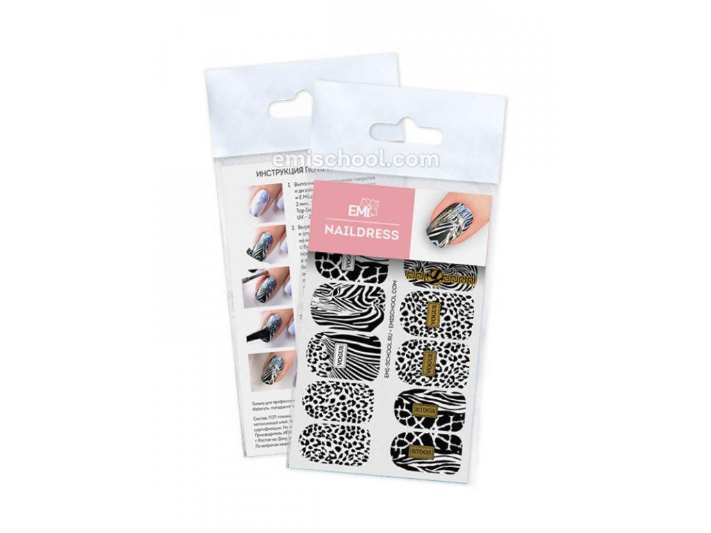 Naildress Slider Design #46 Zebra and black leopard