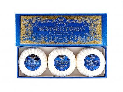 Zázvor a čaj 100% přírodní plisovaná mýdla 3 x 100g