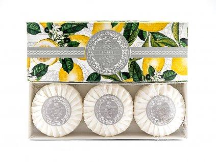 Citron 100% přírodní plisovaná mýdla 3 x 100g