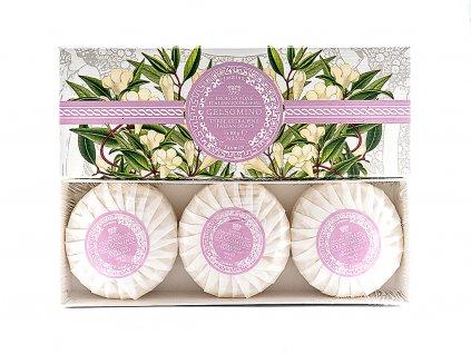 Jasmín 100% přírodní plisovaná mýdla 3 x 100g