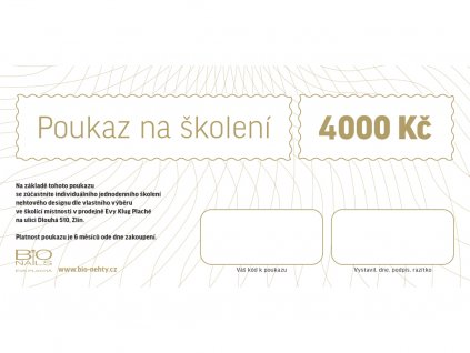 Dárkový poukaz na školení 3000Kč