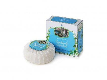 Bílé květy zelené lístky - přírodní mýdlo 100 g