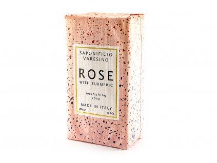Růže s kurkumou 100% přírodní mýdlo 300 g