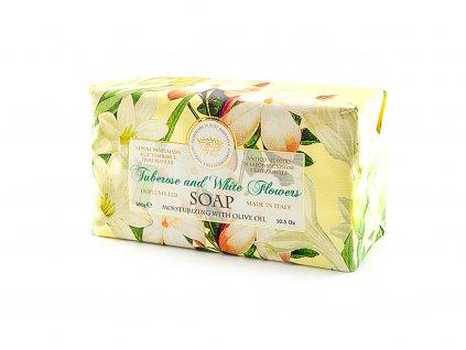 Tuberóza a bílé květy 100% přírodní mýdlo 300 g