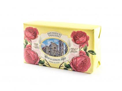 Růže a citron 100% přírodní mýdlo 300 g