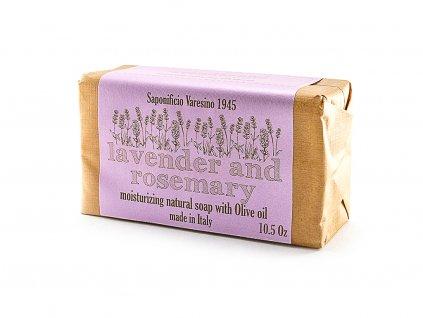 Levandule a rozmarýn 100% přírodní mýdlo 300 g
