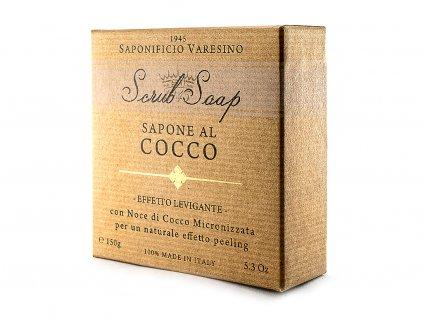 Peelingové přírodní mýdlo s kokosovým ořechem 150g