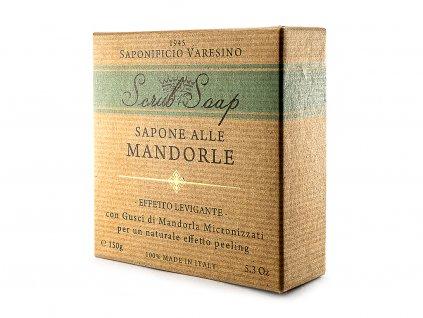Peelingové přírodní mýdlo s mandlovými skořápkami 150g