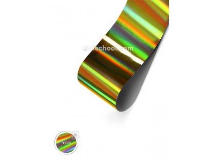 Holografická fólie Gold №2 Transverse Stripes 1,5 m.