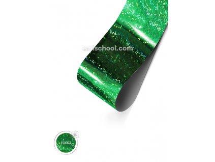 Holografická fólie Green Fine Point 1,5 m.