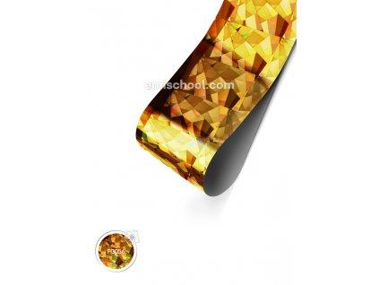 Holografická fólie Gold Crystals 1,5 m.