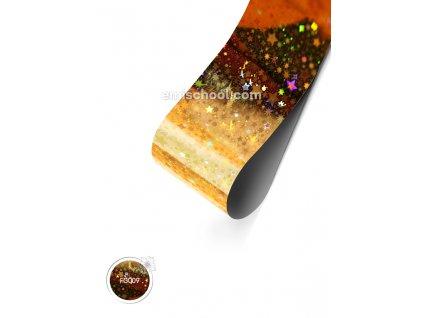 Holografická fólie Gold №1 Stars 1,5 m.
