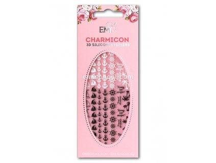 Charmicon 3D Silicone Stickers #50 Cruise Black/White