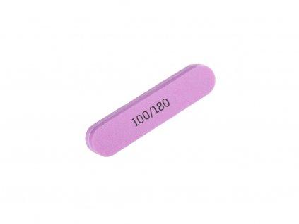 Pilník pěnový úzký mini růžový 100/180