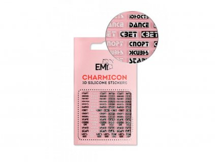 5723 charmicon 3d silicone stickers 132 words
