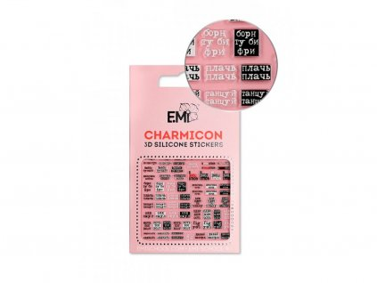 5726 charmicon 3d silicone stickers 133 phrases
