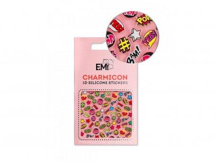 5852 charmicon 3d silicone stickers 128 pop art