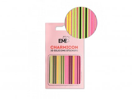 5849 charmicon 3d silicone stickers 129 neon lines