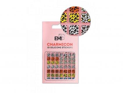 5846 charmicon 3d silicone stickers 130 zebra