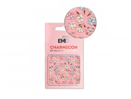 6080 charmicon 3d silicone stickers 136 magnolias and lilies