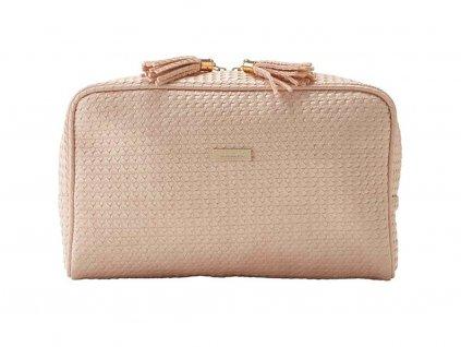 Kosmetická kabelka PALM růžová velká 61363