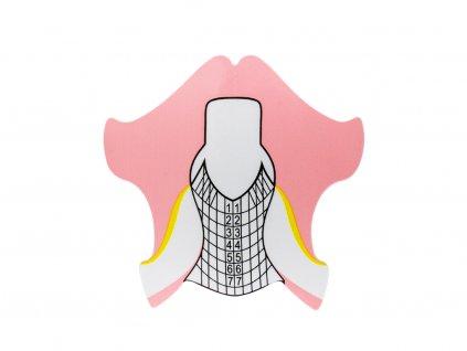 Nehtová forma papírová pink