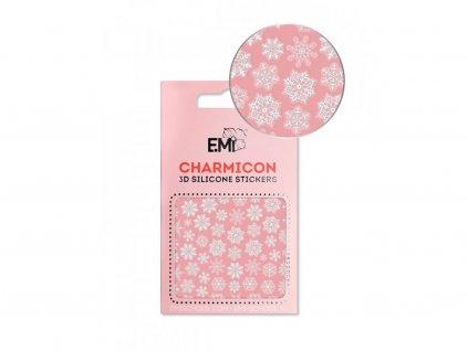 6692 charmicon 3d silicone stickers 150 snowflakes white 1,