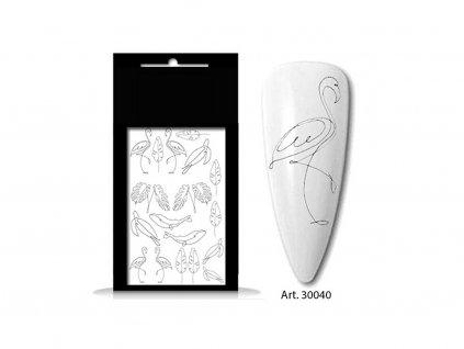 30040 ornamente flamingo art 30040