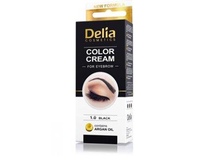 Barva na obočí černá