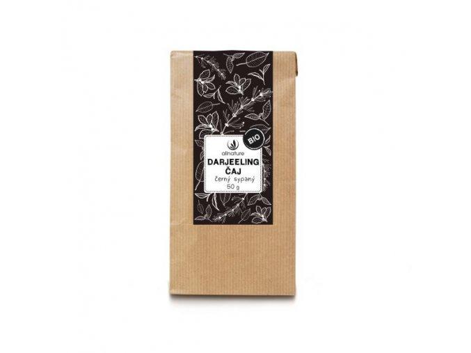 allnature darjeeling caj cerny sypany bio 50 g