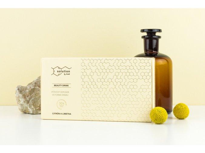 citrón a limetka drink orezaný