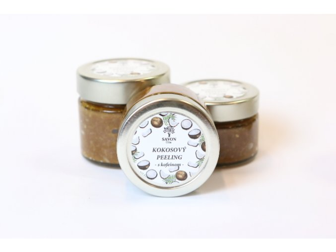 SAVON Kokosový peeling s kofeinem 100 ml - expirace 8.11.2021