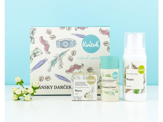 pánsky darčekový balíček produkty