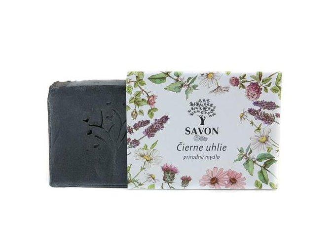 prirodni mydlo cerne uhli savon l