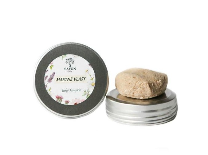 prirodni tuhy sampon mastne vlasy 25 g hlinikova prenoska savon l