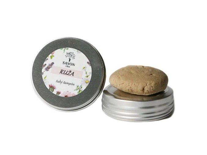 prirodni tuhy sampon ruze 25 g hlinikova prenoska savon l
