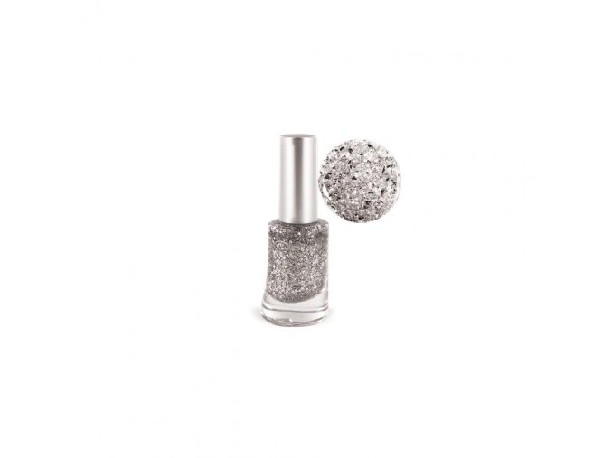 lak na nehty jungle c 14 glitter silver 8ml