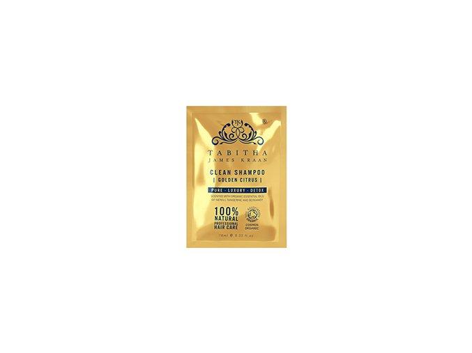 tabitha james kraan golden citrus clean shampoo sample