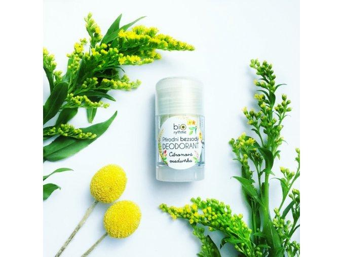 BIORYTHME Přírodní bezsodý deodorant Citronová meduňka 30 g