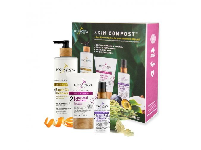 kompletni pece o plet skin compost 3 step skincare system