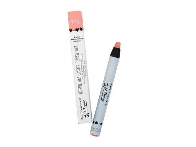 le papier moisturizing lipstick glossy nudes coral 6 g xxx 559x800