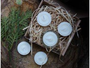 NA KOPEČKU Sada čajovek se svícnem Růže a ylang ylang 5 ks