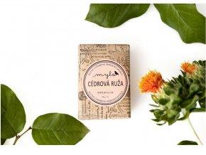 MYLO Růžové mýdlo s francouzským jílem Cedrová růže 100 g
