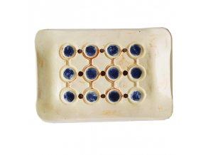 ALMARA SOAP Keramická mýdlenka Puntíky - modré