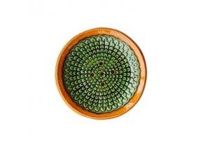 ALMARA SOAP Keramická mýdlenka kulatá - oranžovo zelená