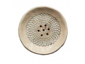 ALMARA SOAP Keramická mýdlenka kulatá - krémová