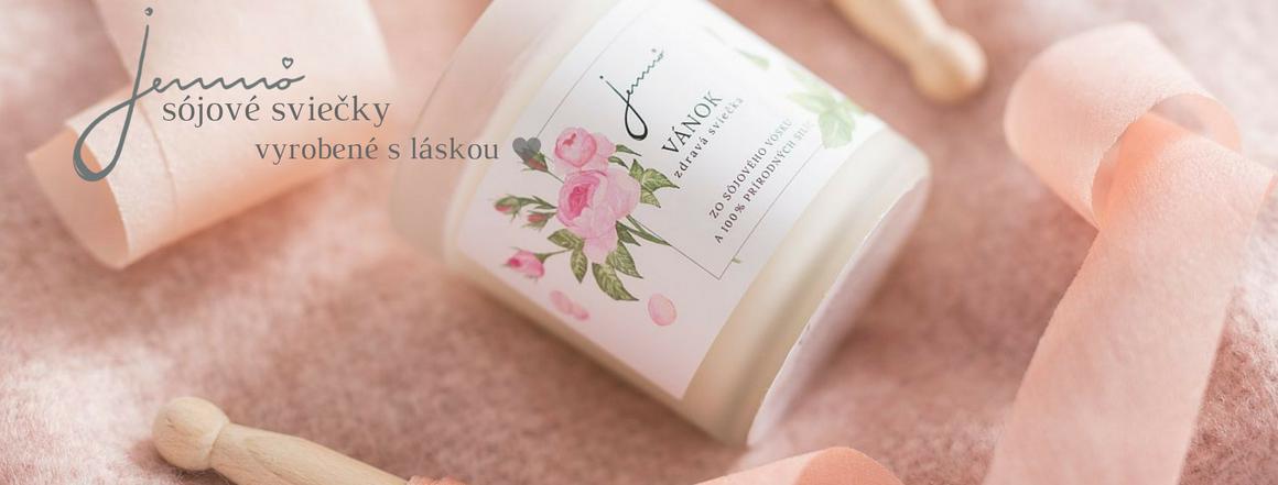 Jemnô - slovenské sviečky zo sójového vosku a prírodných silíc